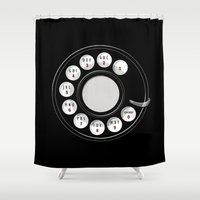 Rotary Me Shower Curtain