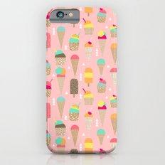 Ice Cream summer fresh food vacation heatwave city life pattern print geometric triangle design iPhone 6s Slim Case