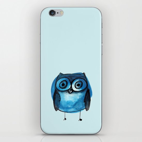 Blue Owl Boy iPhone & iPod Skin