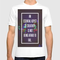 Not Being Afraid To Fail Mens Fitted Tee White SMALL