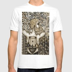 Cycles & Patterns White SMALL Mens Fitted Tee