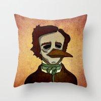 Prophets of Fiction - Edgar Allan Poe /The Raven Throw Pillow