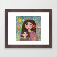 Mom and Daughter  Framed Art Print