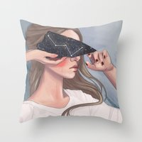 Inside Her Reflection... Throw Pillow