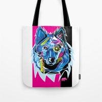 Lazer Wolf Tote Bag