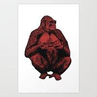 Big Red Ape Art Print