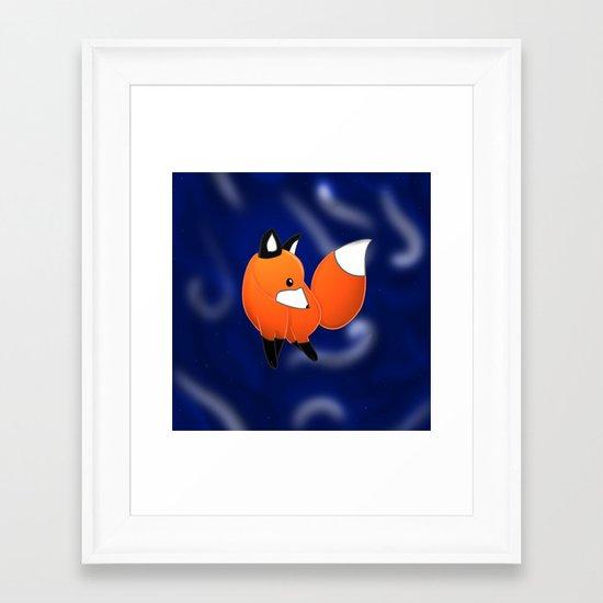 Introducing a fox Framed Art Print