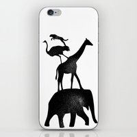 Animal Stack iPhone & iPod Skin