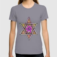 Star Of David Womens Fitted Tee Slate SMALL