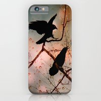 iPhone & iPod Case featuring  Rainy Day Crows by The Strange Days Of Gothicolors
