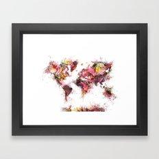 World Map 2033 Framed Art Print