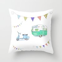 June Cleaver Goes Campin… Throw Pillow