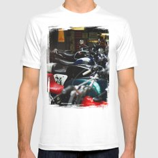 Motorcycles SMALL White Mens Fitted Tee