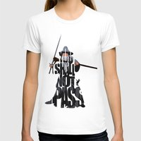 lord of the rings T-shirts featuring Gandalf - The Lord of the Rings by Ayse Deniz