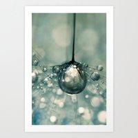 Sea Grey Drop Art Print