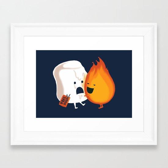 Friendly Fire Framed Art Print