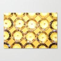 Diamonds // Yellow Canvas Print