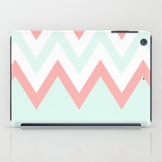 Mint & Coral Chevron (3) iPad Case