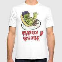 Franken Beans Mens Fitted Tee White SMALL