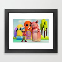 Lilly and Momo Framed Art Print