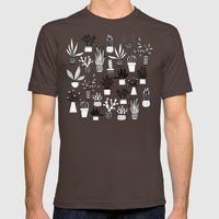 Cacti Mens Fitted Tee Brown SMALL