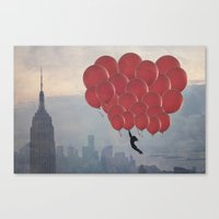 Floating Over The City Canvas Print