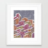 Urban Tetris#1 Framed Art Print