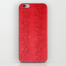 Red Music iPhone & iPod Skin