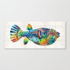 Puffer Fish Art - Blow Puff - By Sharon Cummings Canvas Print