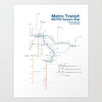 Twin Cities METRO System… Art Print