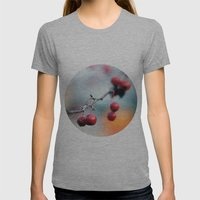 Fall Berries Womens Fitted Tee Athletic Grey SMALL