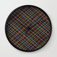 Weave 45 Black Wall Clock
