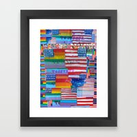 Flags For The Future Mash Up Framed Art Print