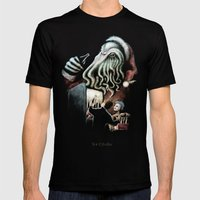 For Cthulhu Mens Fitted Tee Black SMALL