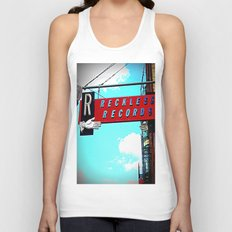 Reckless Records ~ chicago sign Unisex Tank Top