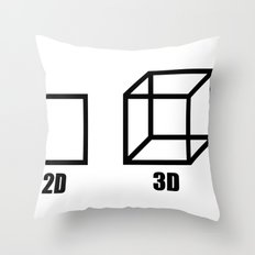 3D stereo Throw Pillow