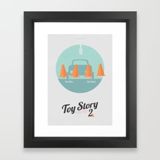 Toy Story 2 - minimal poster Framed Art Print
