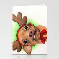 Chihuahua With Antlers -… Stationery Cards
