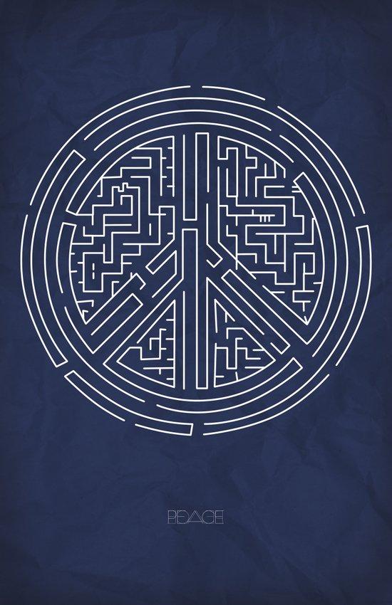 Peace Maze Art Print