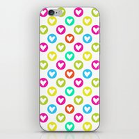 Colorful hearts  iPhone & iPod Skin