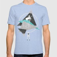 ImaginationCatcher Mens Fitted Tee Tri-Blue SMALL