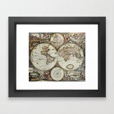 Vintage World Map Framed Art Print