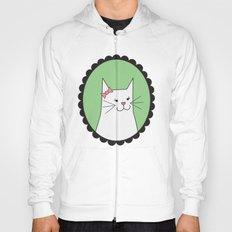 White Kitty Hoody