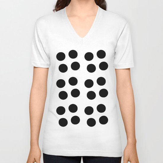 Copijn Black & White Dots V-neck T-shirt