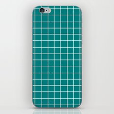 Grid (White/Teal) iPhone & iPod Skin
