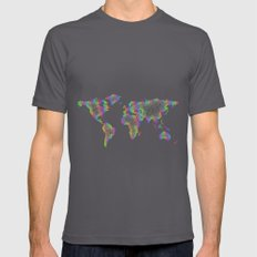 Rainbow World map Mens Fitted Tee Asphalt SMALL