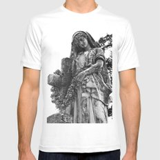 Blessed Virgin Mary Black & White Mens Fitted Tee White SMALL