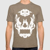 Bloodlust Skull Mens Fitted Tee Tri-Coffee SMALL