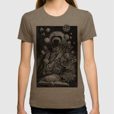 Polyhedra Womens Fitted Tee Tri-Coffee SMALL