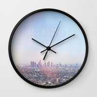 Los Angeles Skyline Typo… Wall Clock